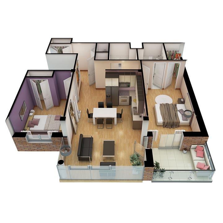 graphic design luxury apartment floor plan