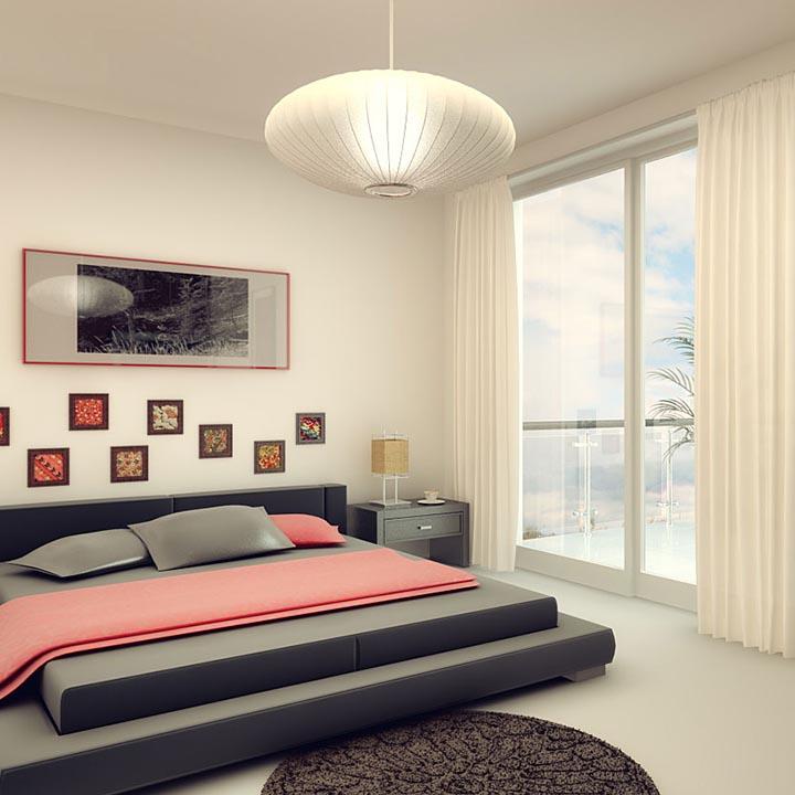 graphic design condo luxury bedroom