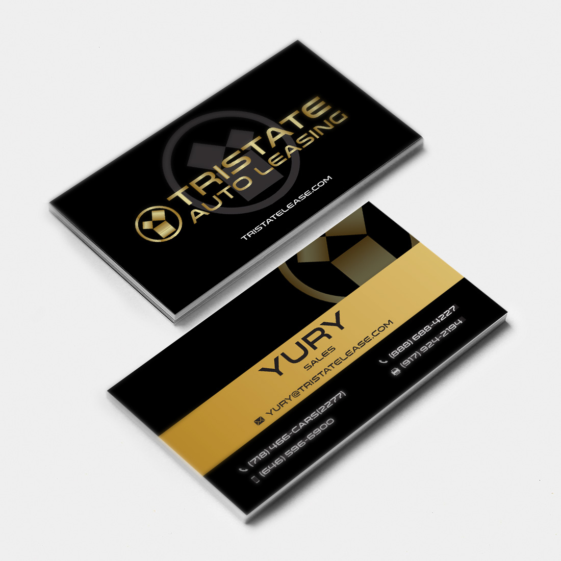 graphic design tristate auto leasing business card