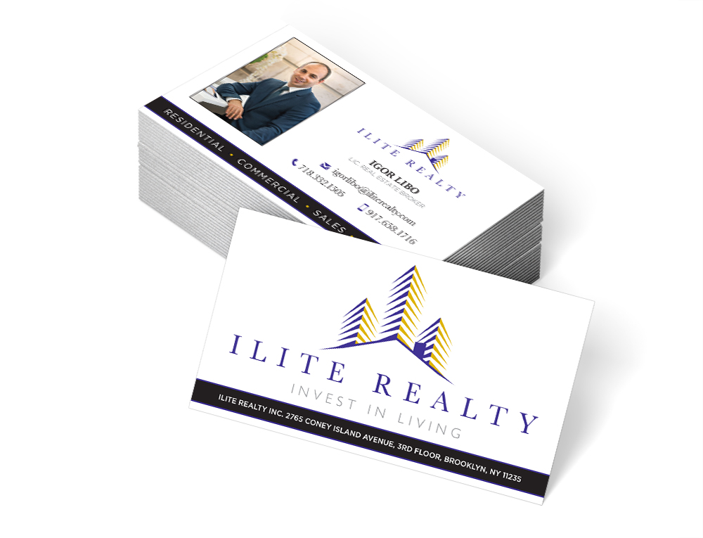 graphic design ilite realty business card