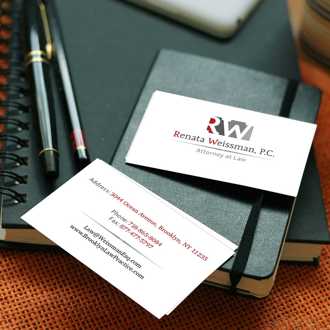 graphic design renata weissman business card