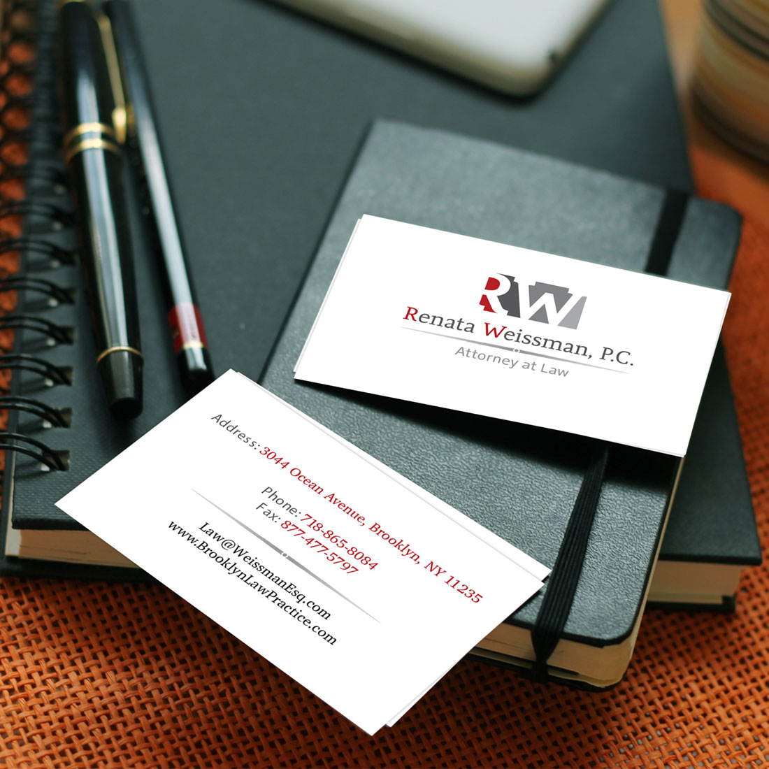 graphic design renata weissman business card