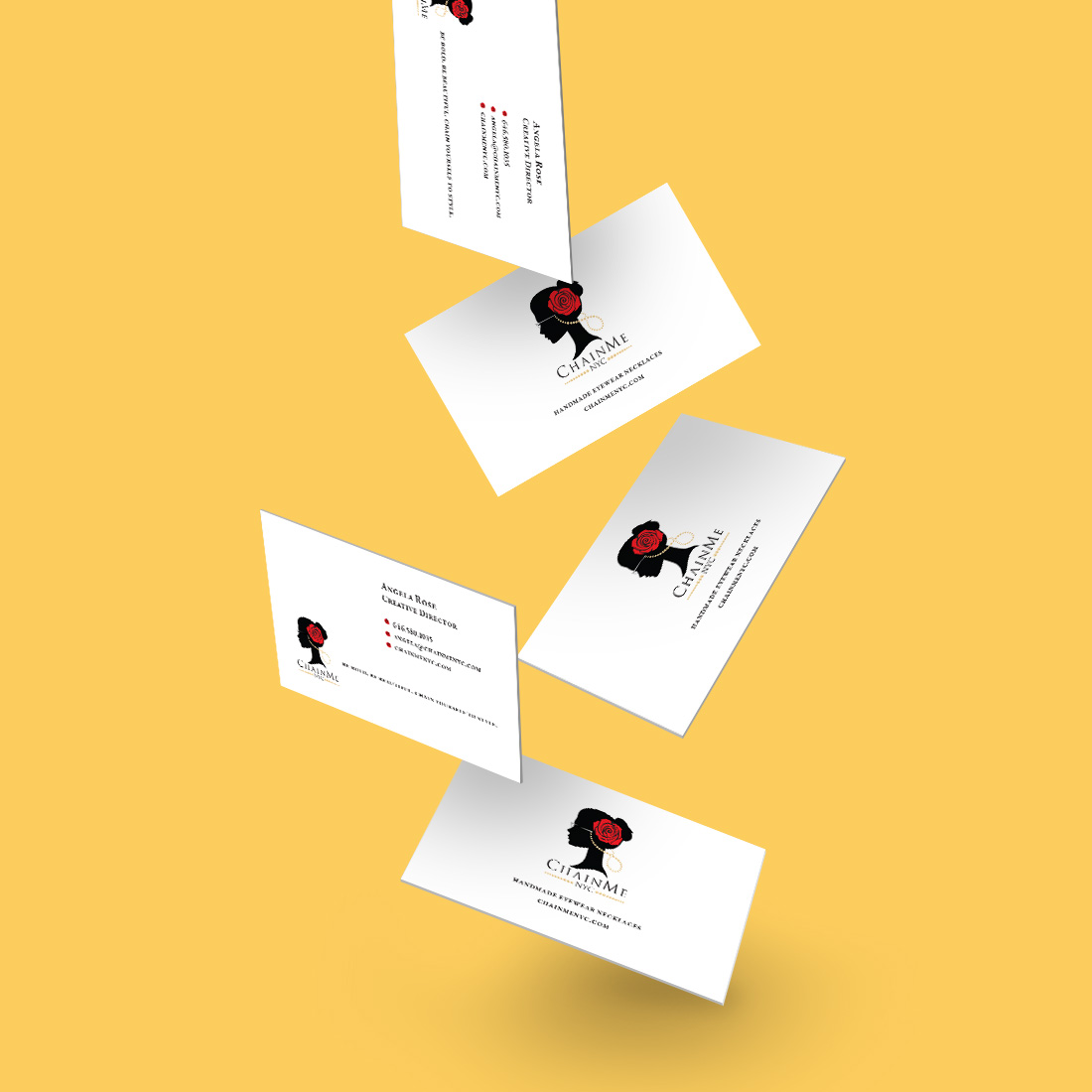 graphic design chainme business card