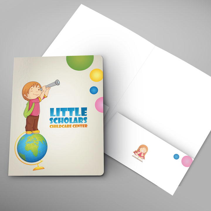 graphic design little scholars folder
