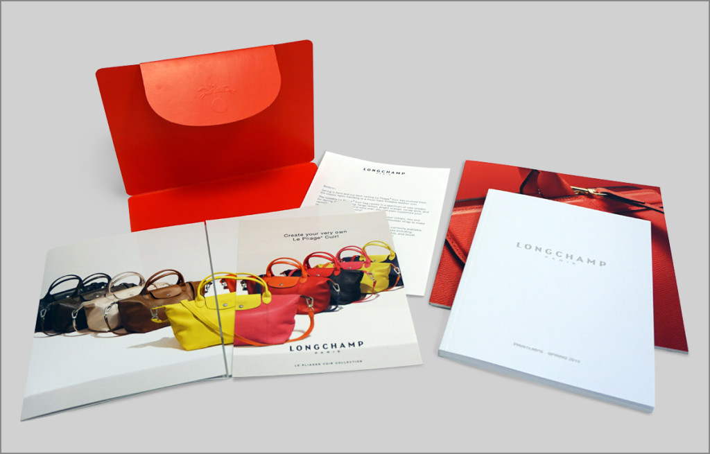 longchamp brochures graphic design longchamp