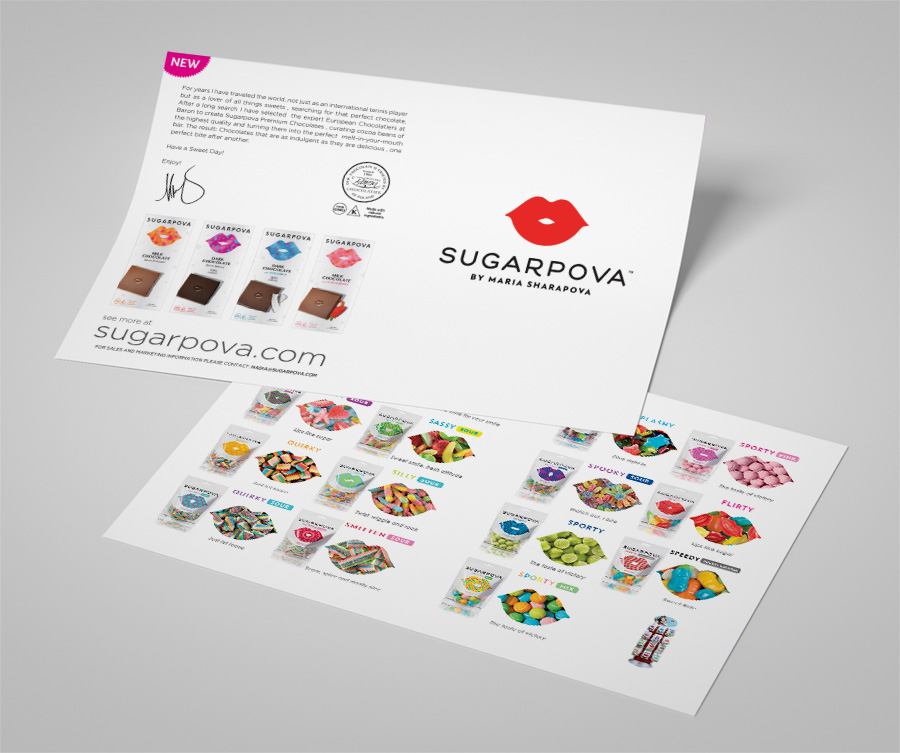 Sugarpova Candy graphic design
