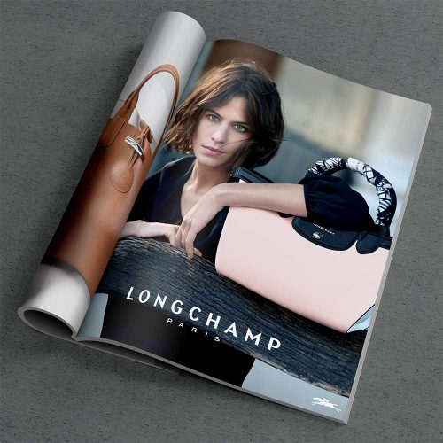 graphic design magazine longchamp